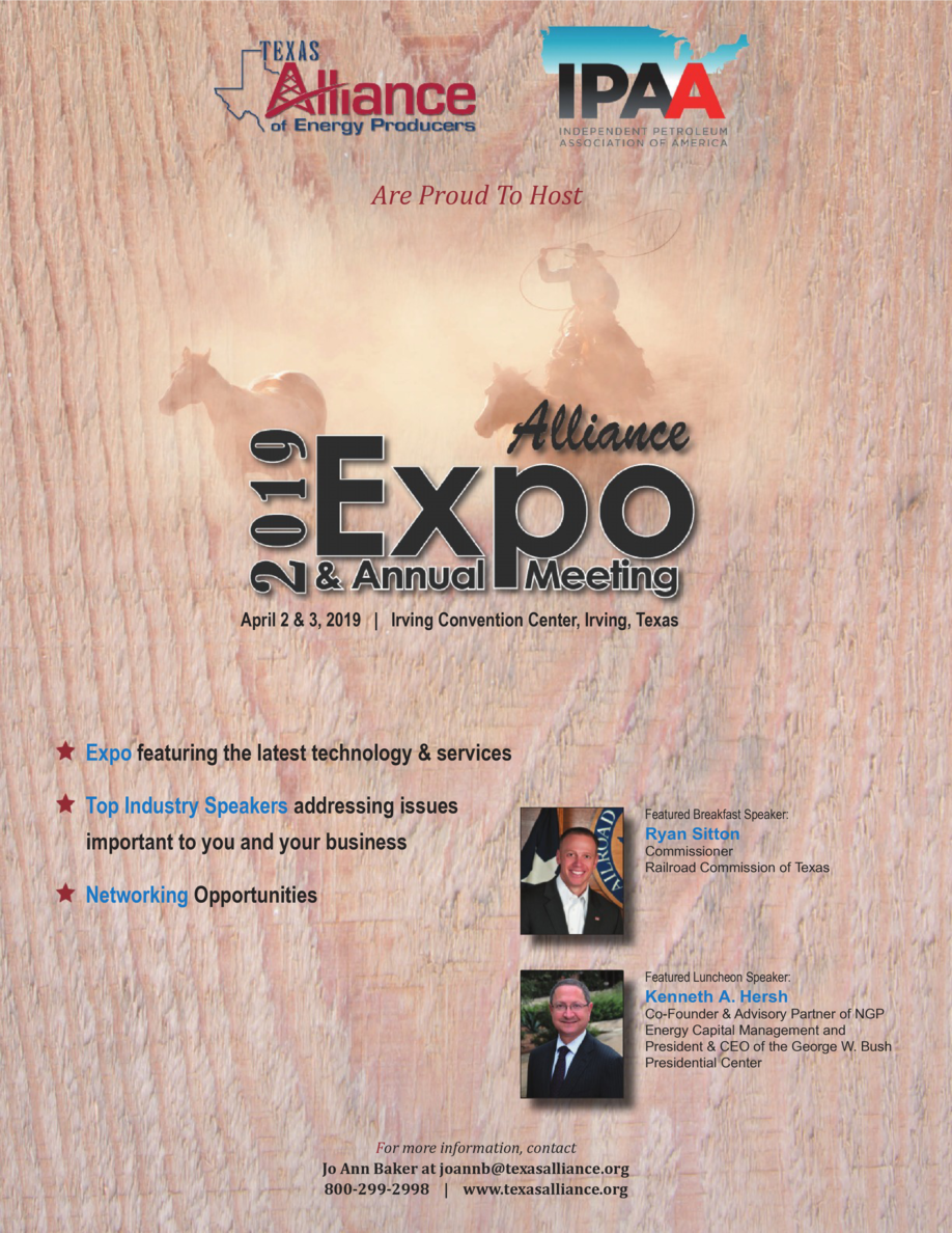 Are Proud To Host  April 2   3, 2019   Irving Convention Center, Irving, Texas  Showcase Your Company at the Alliance Expo...